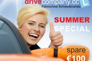 Summer Special Fahrschule Schwedenplatz: € 100,- auf den Führerschein sparen