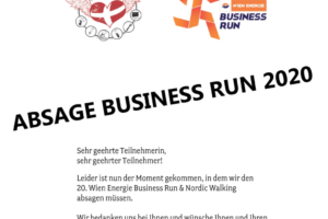ABSAGE Business Run 2020